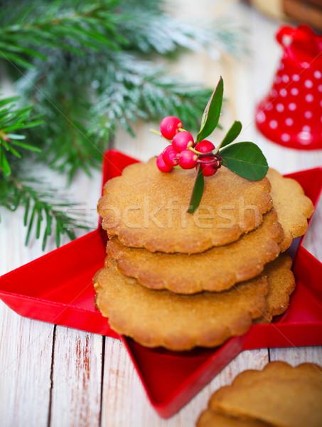Natal bolinhos decorações árvore fundo Foto stock © dashapetrenko