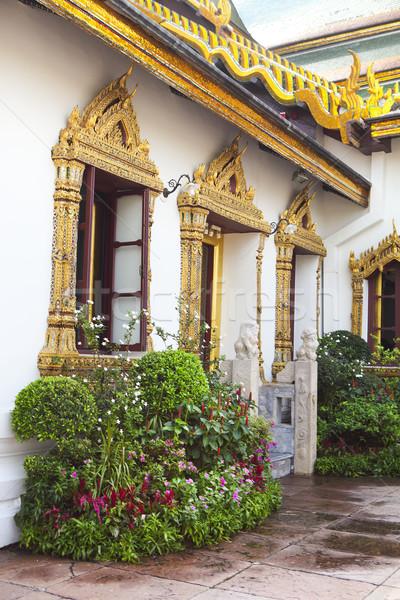 寺 エメラルド タイ 細部 建物 葉 ストックフォト © dashapetrenko