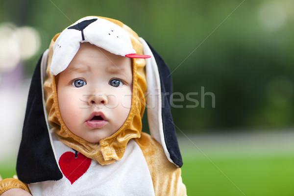 Little funny baby wearing puppy suit  Stock photo © dashapetrenko