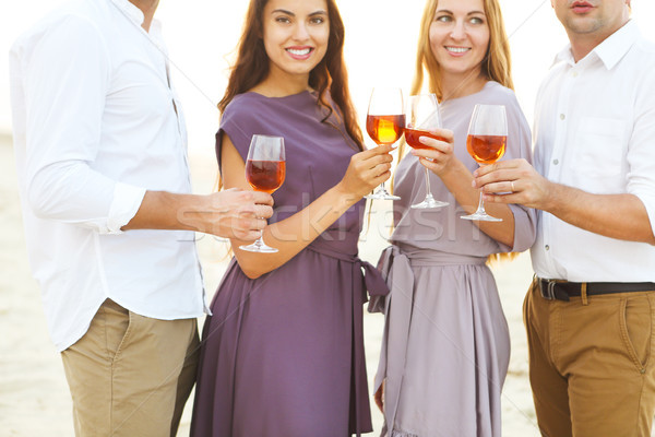 Men and women on wine party Stock photo © dashapetrenko