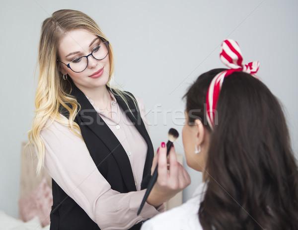 Make up artist doing professional make up  Stock photo © dashapetrenko