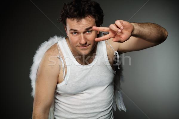 ダンス 天使 白 翼 クレイジー 文字 ストックフォト © dashapetrenko