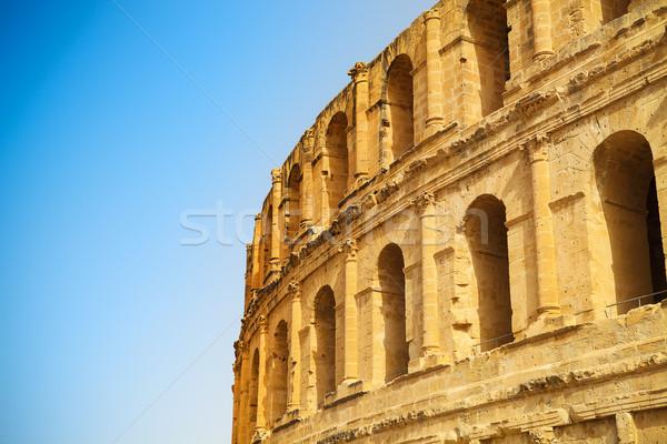 Ruinas coliseo norte África cielo Foto stock © dashapetrenko