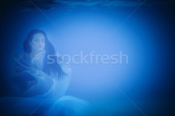 Subaquatique portrait femme piscine eau Photo stock © dashapetrenko