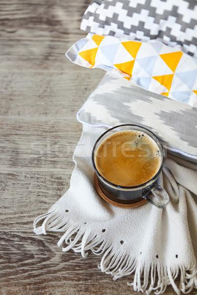 желтый серый Кубок кофе стены Сток-фото © dashapetrenko