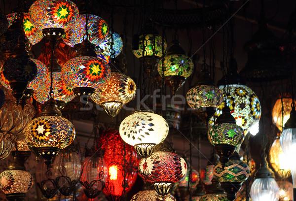 Traditioneel vintage turks lampen licht nacht Stockfoto © dashapetrenko