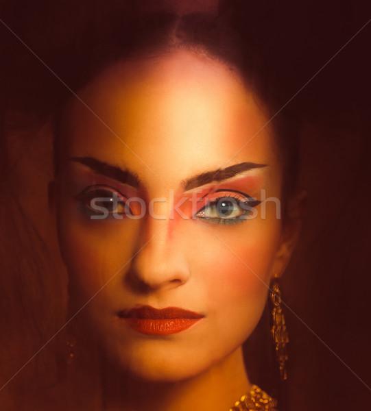 Stylisé portrait japonais geisha lumineuses Photo stock © dashapetrenko