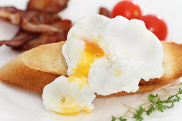Stok fotoğraf: Yumurta · tost · kahvaltı · plaka · gıda · ekmek