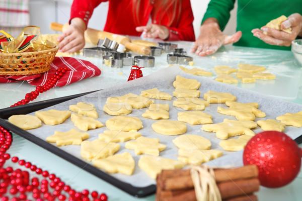 Baking ingredients for Christmas cookies and gingerbread Stock photo © dashapetrenko