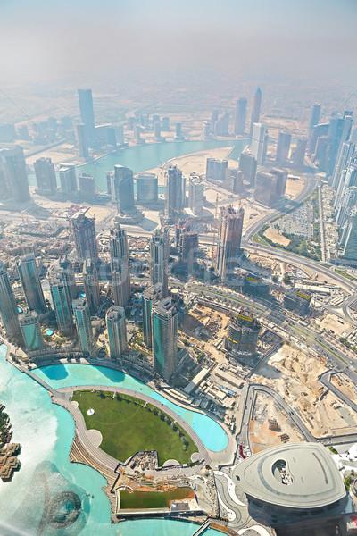 Yükseklik burj khalifa Dubai çöl Stok fotoğraf © dashapetrenko