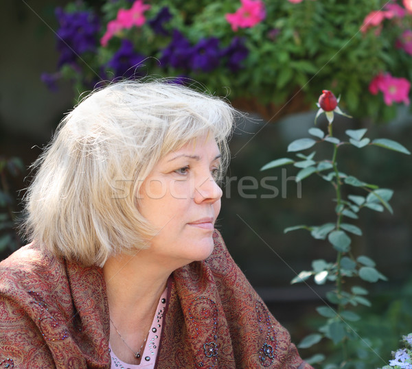 Middle age blonde woman Stock photo © dashapetrenko