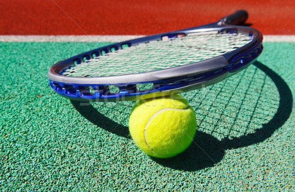 теннис мяча глина теннисный корт здоровья Сток-фото © dashapetrenko