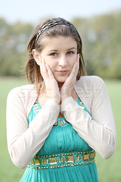 étonné fille portrait jeune fille automne forêt Photo stock © dashapetrenko