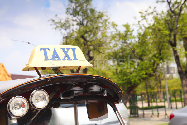 Geleneksel Asya araç yol araba Stok fotoğraf © dashapetrenko