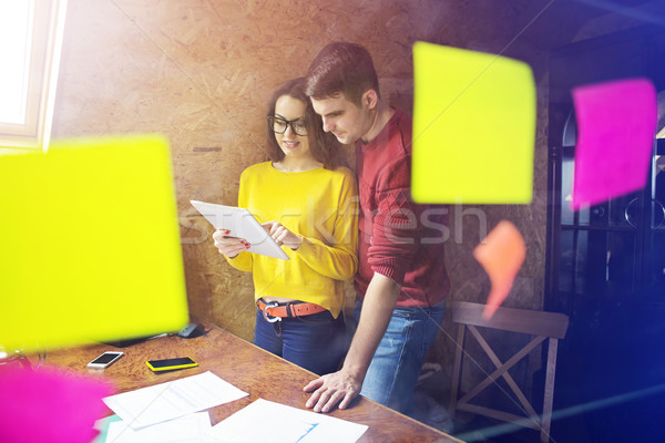 Business team at work with financial reports Stock photo © dashapetrenko