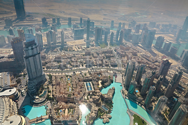 Aerial view from the height of Burj Khalifa, Dubai Stock photo © dashapetrenko