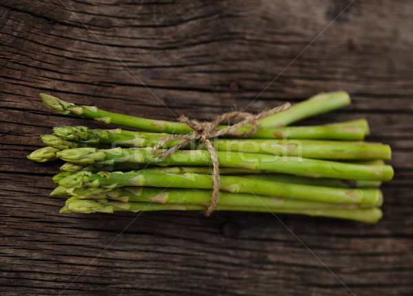 Fraîches vert asperges chaîne rustique Photo stock © dashapetrenko