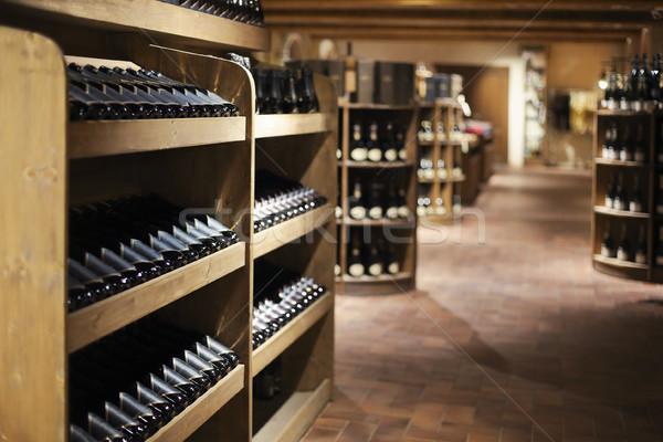 Champagne bottles in wine store Stock photo © dashapetrenko