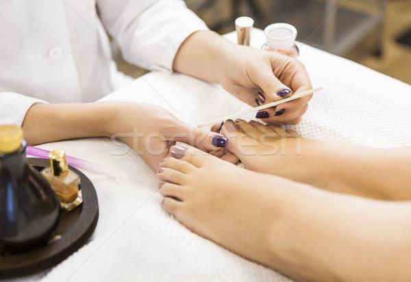 педикюр салон красоты ногтя стороны моде Сток-фото © dashapetrenko