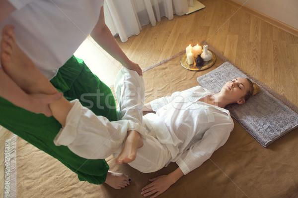 Massaggio trattamento salute centro donna Foto d'archivio © dashapetrenko