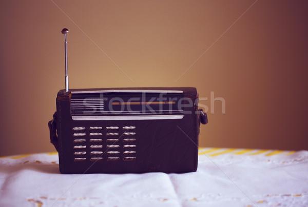 Antichi radio vintage legno retro suono Foto d'archivio © dashapetrenko