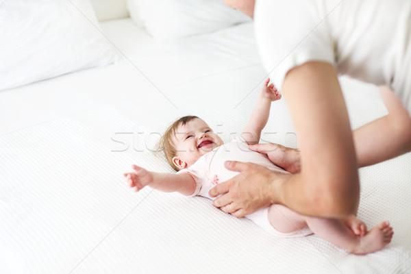 шесть месяц играет отец счастливая семья Сток-фото © dashapetrenko