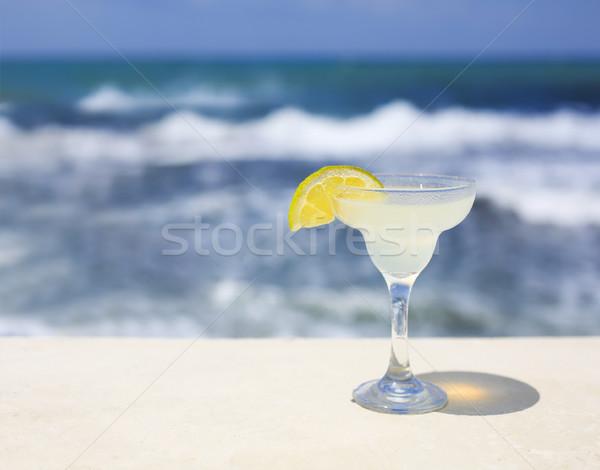 Coquetel óculos mar natureza luz verão Foto stock © dashapetrenko