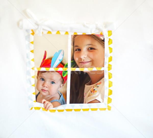 Two cute girl playing together Stock photo © dashapetrenko