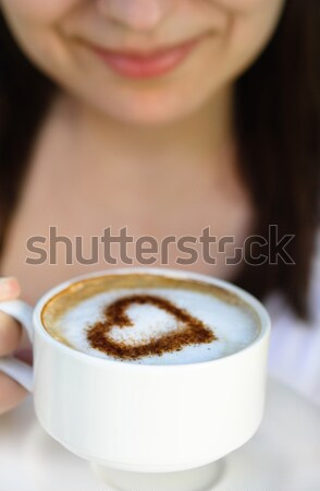 In love with coffee Stock photo © dashapetrenko