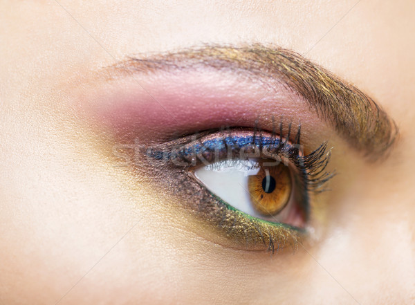 Close up portrait of a beautiful young model with bright make up Stock photo © dashapetrenko
