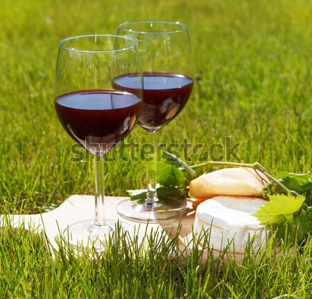 Piknik bor szabadtér nyár buli ital Stock fotó © dashapetrenko