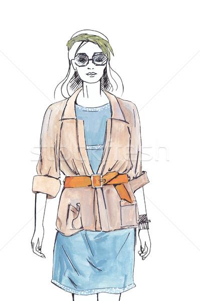 The woman dressed in summer suit Stock photo © dashapetrenko