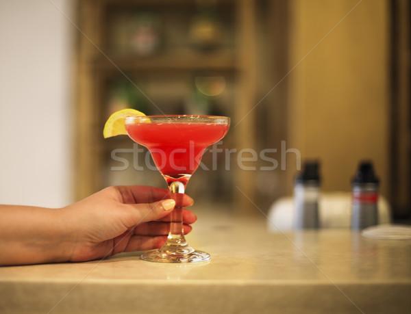 Strawberry margarita on bar counter Stock photo © dashapetrenko