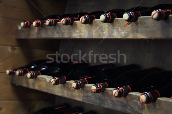 Bottles of red wine  Stock photo © dashapetrenko
