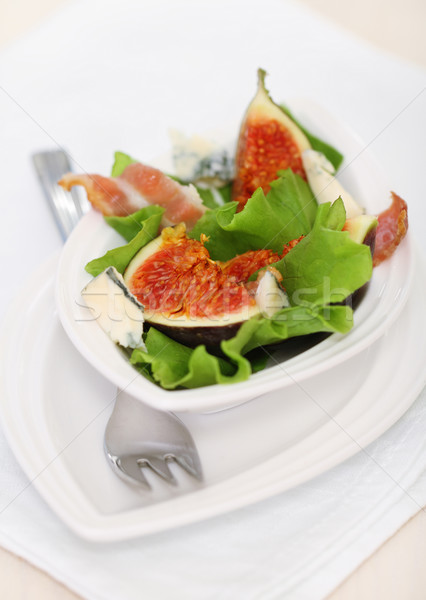 Salad with figs Stock photo © dashapetrenko