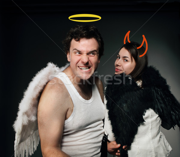 Mr. Angel and Mrs. Angel Stock photo © dashapetrenko