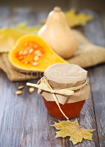 Small pumpkins and pumpking jam  Stock photo © dashapetrenko