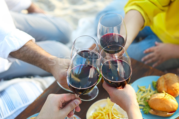 été pique-nique vin rouge extérieur fête célébration Photo stock © dashapetrenko