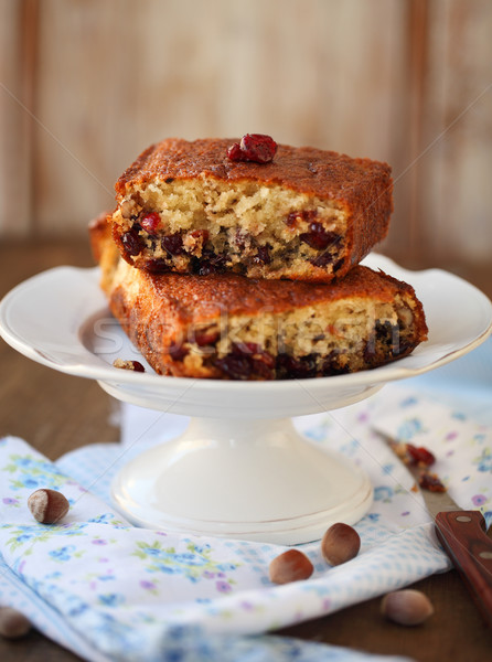 Homemade cranberry cake  Stock photo © dashapetrenko