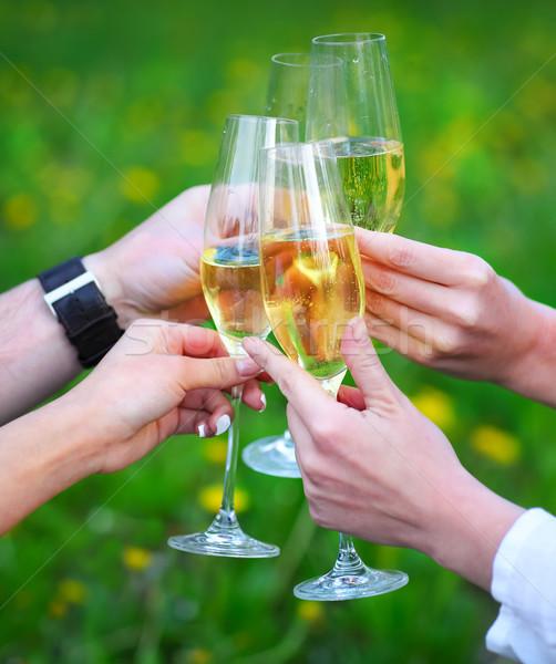 Сток-фото: люди · очки · шампанского · тоста