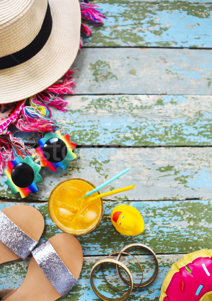 Young woman summer vacation accessories Stock photo © dashapetrenko