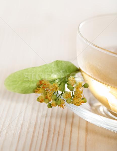 Cup of the linden tea  Stock photo © dashapetrenko
