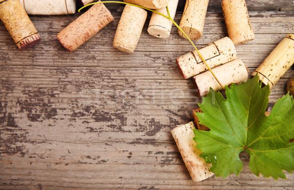 Bouteille de vin bois texture mur Photo stock © dashapetrenko