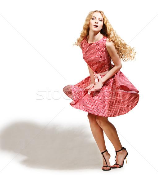Portrait of the beautiful blonde woman Stock photo © dashapetrenko