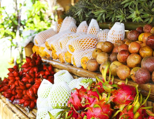 Abierto aire frutas mercado Tailandia pueblo Foto stock © dashapetrenko