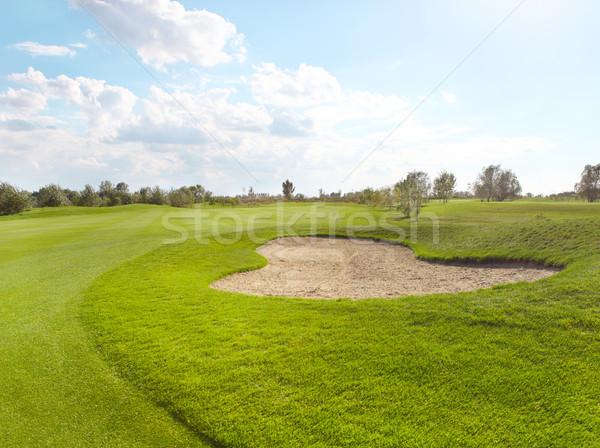 Vazio verde campo de golfe verão dia golfe Foto stock © dashapetrenko