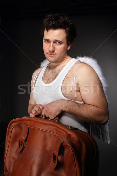 Ange sac brun effrayant personnage portrait Photo stock © dashapetrenko