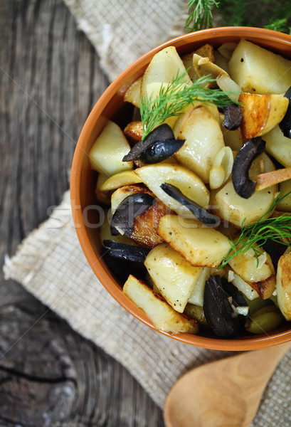 Potato salad with olives, onion, dill  Stock photo © dashapetrenko