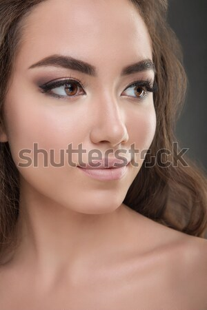 Portrait incroyable belle femme belle brunette Photo stock © dashapetrenko