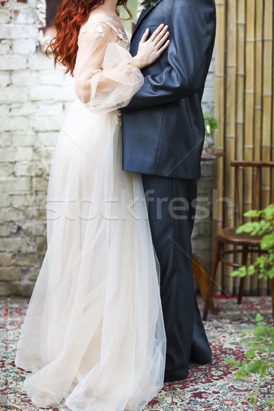 Свадебная церемония жених невеста вместе женщину Сток-фото © dashapetrenko